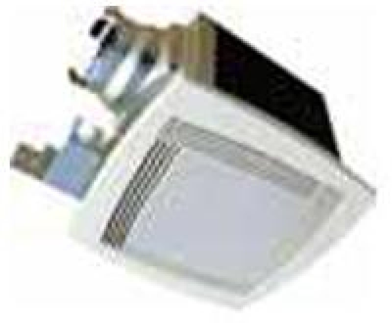 Continental Fan Deluxe Bathroom Square Grille Lighted With Night Light